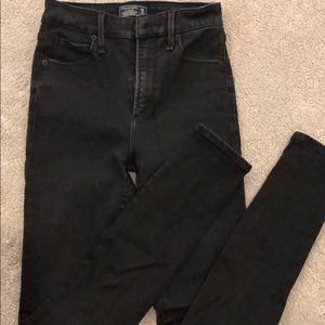 Black high waisted super skinny jean
